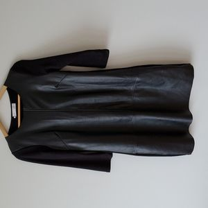 Vero Synthetic Leather Black Shift Dress Sz 4